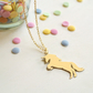 Personalised Gold Unicorn Necklace, Unicorn Necklace, gift for unicorn lovers