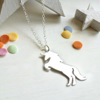Personalised Sterling Silver Unicorn Necklace, Unicorn Necklace, Valentines Gift