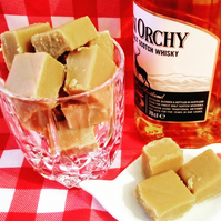 MALT WHISKY CORNISH CLOTTED CREAM FUDGE