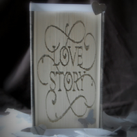 Love Story handmade folded book art. Ideal gift for any occasion