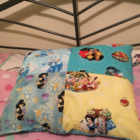 Licensed Disney Princess Patchwork Pillow
