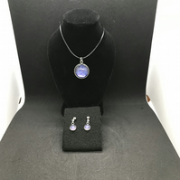 Galaxy Necklace and Earring Set