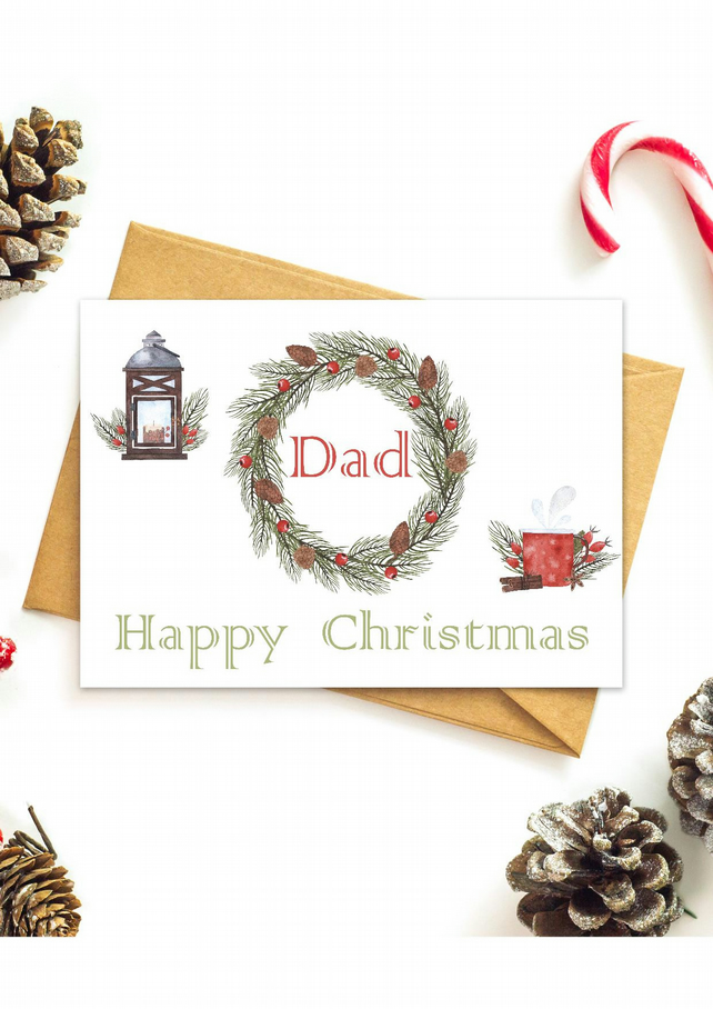 Christmas card for Dad