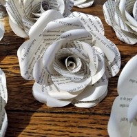 12 x recycled Harry Potter table roses
