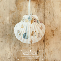 Hanging Noel Giant Scallop Shell Decoration by Netties Shells