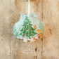 Hanging Christmas Tree Giant Scallop Shell Decoration by Netties Shells