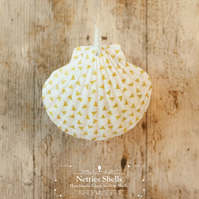 Hanging Mini Trees Decoration on Giant Scallop Shell by Netties Shells