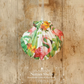 Hanging Flamingos Decoration on Giant Scallop Shell by Netties Shells