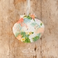Hanging Tropical Flamingos Decoration on Giant Scallop Shell by Netties Shells