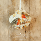 Hanging Robins Decoration on Giant Scallop Shell by Netties Shells