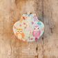 Hanging Girly Owls Decoration on Giant Scallop Shell by Netties Shells