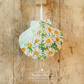 Hanging White Daisy Decoration on Giant Scallop Shell by Netties Shells