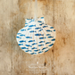 Hanging Fish Decoration on a Giant Scallop Shell by Netties Shells