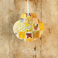 Hanging Sheep Decoration on a Giant Scallop Shell by Netties Shells