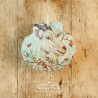 Hanging Goat Decoration on a Giant Scallop Shell by Netties Shells