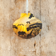 Hanging Sunset Decoration on a Giant Scallop Shell by Netties Shells