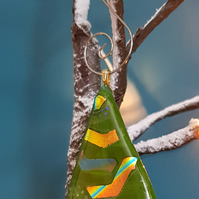 Handmade Fused Glass Christmas Decoration
