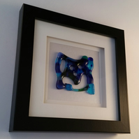 Handmade Fused Glass Framed Picture