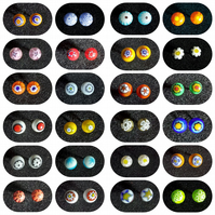 Handmade Fused Glass Silver Plated Studs - Various colours