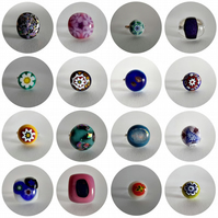 Handmade Fused Glass Sterling Silver Rings - Various colours