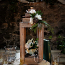 Rustic Vintage wedding table centre piece lantern