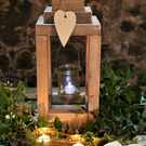 Rustic wedding table centre piece