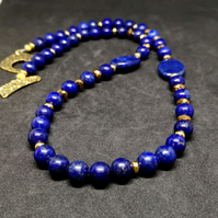 Lapis Lazuli and Crystal Necklace  GN2
