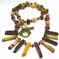 Mookite, Ruby & Zircon Necklace