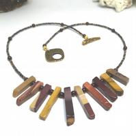 Mookite and Garnet Necklace