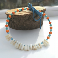 White Shell & Quartzite Choker