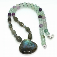 Labradorite & Fluorite Necklace