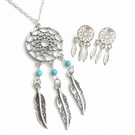 Dream Catcher Earrings & Necklace Set