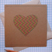 Heart of Hearts Valentine's Card - left blank for your own unique message