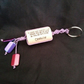 Macrame and bead keyring or bag charm
