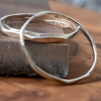 Argentium (sterling), Skinny Stacking Ring Set,