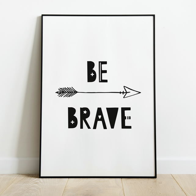 picture regarding Braves Printable Schedule referred to as Be Courageous Nursery Printable Artwork