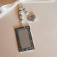 "Wedding Photo Frame Bouquet Charm Oblong Silver Locket, and ""dad"" charm"