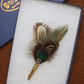 Feather cockade, Brooch , lapel pin