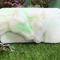 Smelly Sheep Goat's Milk Soap - Kelpies Horses - Large Chunky Bar