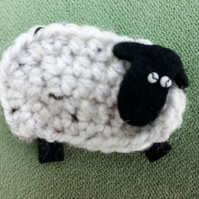 Speckled Sheep Brooch