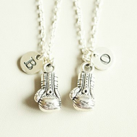 Boxing Glove Necklace Set