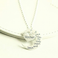 Love you to the Moon and Back Mother Necklace