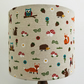 New Handmade Pendant Light Lamp Shade in Woodland Friends Fabric - 25cm (30, 40)