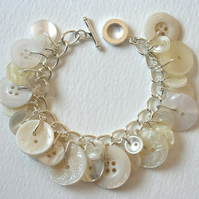 Button Bracelet Snowy White