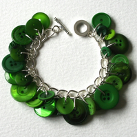 Freshly Cut Grass Button Charm Bracelet