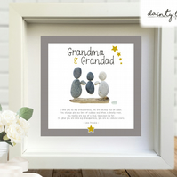 GRANDPARENTS GRANDMOTHER GRANDFATHER Pebble Picture: Personalised Gift