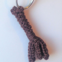 Broomstick Keyring Hand Knitted