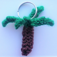 Palm Tree Knitted Keyring