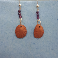 Terracotta shells and gold filled earrings 4