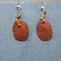 Terracotta shells and gold filled earrings 5